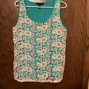 Teal and Lace Tank